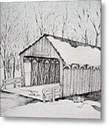 Snow Bridge 2012  Metal Print