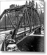 Snow Bridge Metal Print