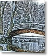 Snow Bridge Metal Print by Rebecca Adams