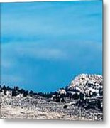 Snow-capped Horsetooth Rock Metal Print by Harry Strharsky