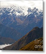 Snow Clouds In The Andes Metal Print