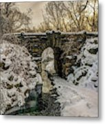 Snow-covered Glen Span Arch, Central Metal Print