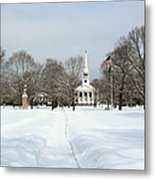 Snow Covered Guilford Metal Print
