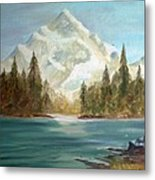 Snow Covered Mountain Metal Print
