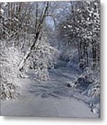 Snow Covered River Metal Print by Thomas Fouch