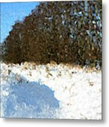 Snow Covered Riverbed Metal Print