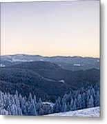 Snow Covered Trees On A Hill, Belchen Metal Print