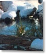 Snow Covered Waterscape Metal Print