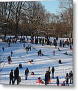 Snow Day - Fun Day At The Park Metal Print