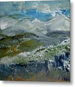 Snow Drifts On The Hill Metal Print