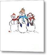 Snow Family Metal Print