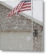 Snow Flag Metal Print