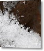 Snow Flake Macro 2 Metal Print