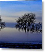 Snow Fog Metal Print by Rebecca Adams