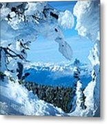Snow Heart Metal Print