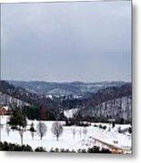 Snow Hills Metal Print