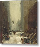 Snow In New York Metal Print