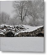 Snow In Plymouth Meeting Pa Metal Print