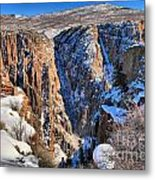Snow In The Black Canyon Metal Print