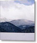 Snow In The Blue Ridge Mountains Metal Print