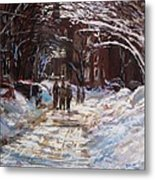 Snow In The City Metal Print by Jack Skinner