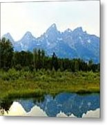 Snow In The Mountains Metal Print