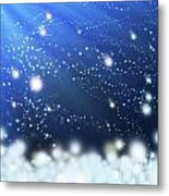 Snow In The Wind Metal Print