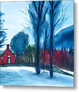 Snow In Vermont Metal Print