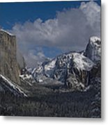 Snow Kissed Valley Metal Print by Bill Gallagher