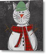 Snow Kitten Metal Print