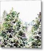 Snow Laden - Digital Effect IIi Metal Print
