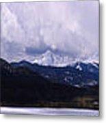 Snow Lake And Mountains Metal Print