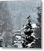 Snow Landscape Metal Print