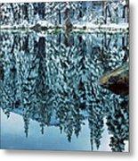 Snow Mirror Metal Print