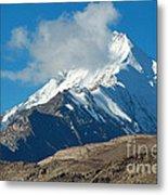 Snow Mountain Metal Print