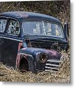 Snow Moving Sedan Metal Print