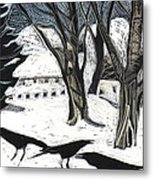 Snow Noise Metal Print