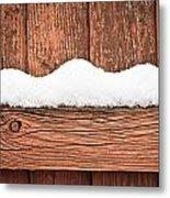 Snow On Fence Metal Print by Tom Gowanlock