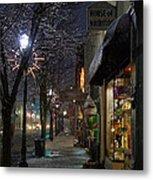 Snow On G Street 3 - Old Town Grants Pass Metal Print