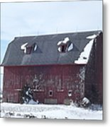 Snow On Roof Metal Print