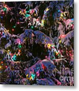 Snow On The Christmas Tree Metal Print