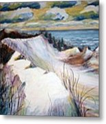 Snow On The Dunes Metal Print