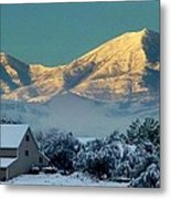 Snow On Utah Mountains Metal Print
