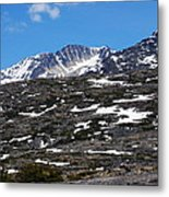 Snow Patched Mountain Metal Print