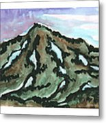 Snow Patches Metal Print