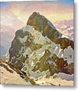 Snow Peaks Of Mount Titlis Metal Print