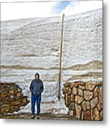 Snow Piles At Alpine Visitor's Center In Rocky Mountain National Park-colorado Metal Print