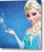 Snow Queen Elsa Frozen Metal Print