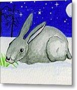 Snow Rabbit Metal Print