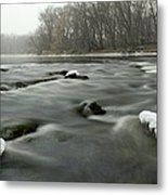 Snow Rapids Metal Print